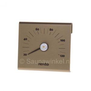 Design sauna thermometer champagne